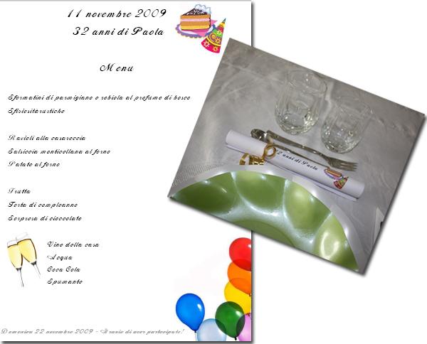 menu_ del mio compleanno
